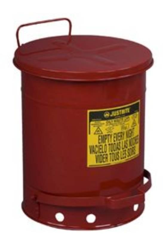 bac a dechet rond galvanise 20l rouge pi collection des d chets vandeputte safety experts. Black Bedroom Furniture Sets. Home Design Ideas