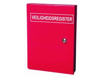 CUPBOARD SAFETY REGISTER STEEL RED