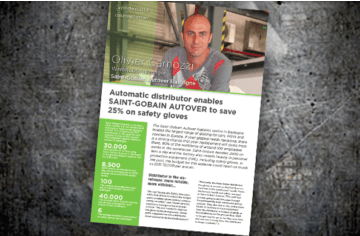 Automatic distributor enables SAINT-GOBAIN AUTOVER to save 25% on safety gloves