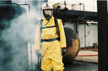 Disposable or reusable chemical protective suits: which one wins?