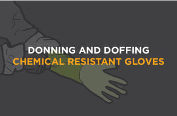 How to: Donning and doffing chemical gloves