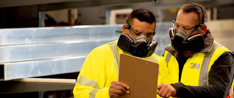 Discover the new 3M half mask respirators. Increase worker confidence.